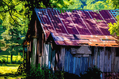 Shed Digital Art - Rust And Rays by Brian Stevens