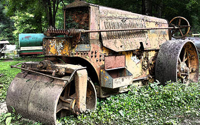 Michael Spano Photograph - Rusted Buffalo Springfield Roller by Michael Spano