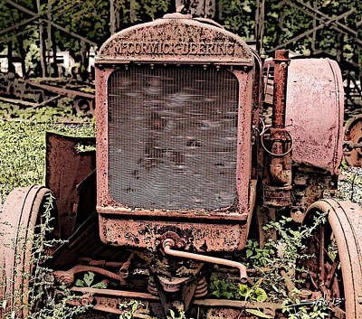 Michael Spano Photograph - Rusted Mc Cormick-deering Tractor by Michael Spano