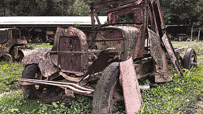 Michael Spano Photograph - Rusted Pickup In Pieces by Michael Spano