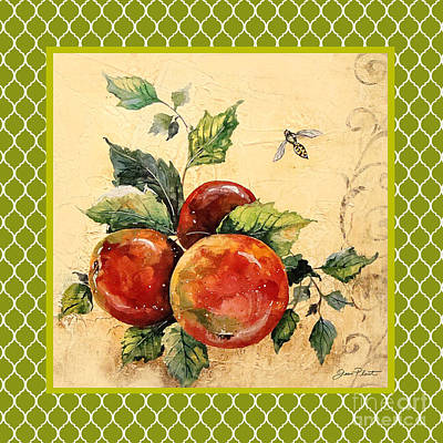 Rustic Apples On Moroccan Original by Jean Plout