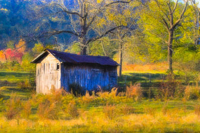 Autumn Photograph - Rustic Autumn Landscape In North Georgia by Mark E Tisdale