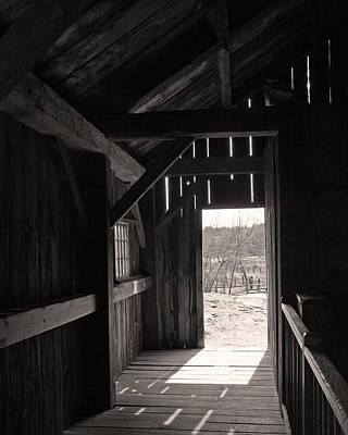 Barn Photograph - Rustic Barn Interior by Brooke Ryan