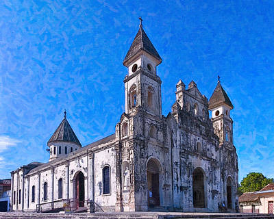 Tropical Photograph - Rustic Baroque Church - Iglesia De Guadalupe by Mark E Tisdale