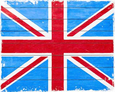 Patina Digital Art - Rustic British Union Jack - Vintage Flag by Mark E Tisdale