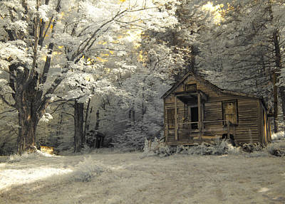 Western Ma Photograph - Rustic Cabin by Luke Moore