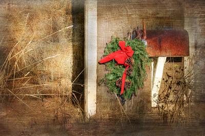 Mail Box Photograph - Rustic Christmas by Lori Deiter