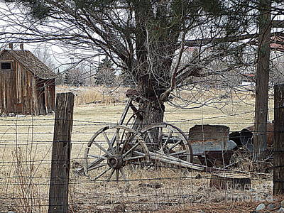 Rustic Days Gone By Print by Bobbee Rickard