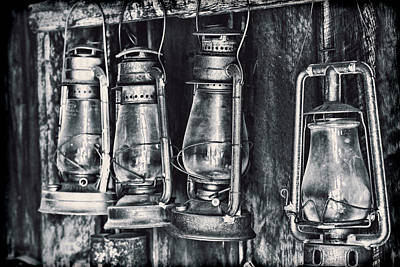 Gas Lamp Photograph - Rustic Lanterns by Kelley King
