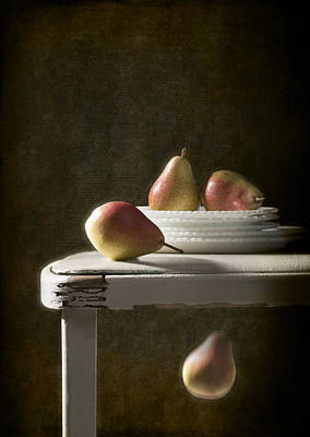 Dark Background Photograph - Rustic Pears by Amanda And Christopher Elwell