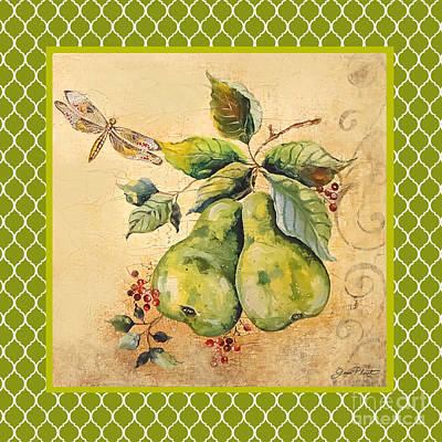 Rustic Pears On Moroccan Original by Jean Plout