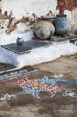 Indian Art Photograph - Rustic Rangoli  by Tim Gainey