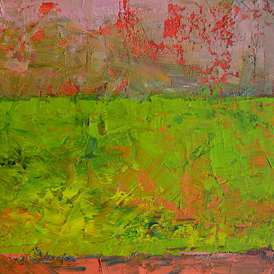 Nature Painting - Rustic Roadside Series - Celery Flats by Michelle Calkins