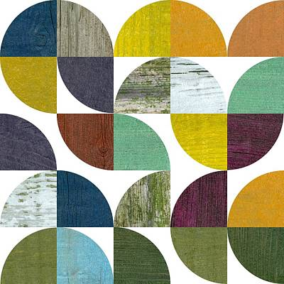 Contemporary Digital Art - Rustic Rounds 3.0 by Michelle Calkins