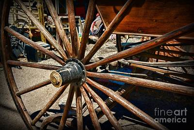 Rustic Wagon Wheel Print by Paul Ward