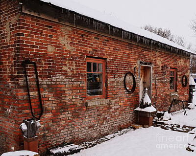 Indiana Photograph - Rustic Workshop In Winter by Amy Lucid