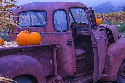 Broken Down Truck Photograph - Rusty Autumn by Garry Gay