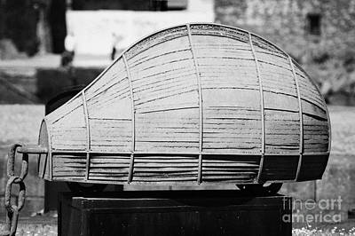 rusty boat shaped sculpture claddagh quay Galway city county Galway Print by Joe Fox