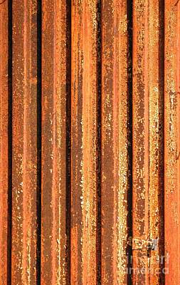Hematite Photograph - Rusty Corrugated Iron by Yali Shi