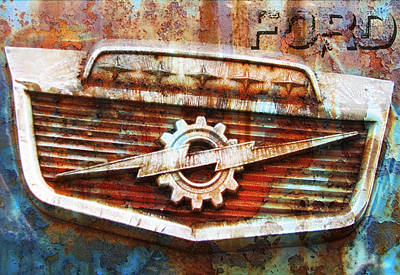 Rusted Cars Digital Art - Rusty Ford by Greg Sharpe