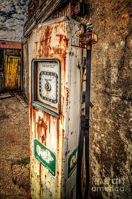 Abandoned Digital Art - Rusty Gas Pump by Adrian Evans