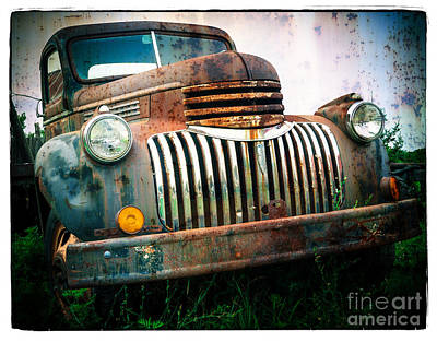 Rusty Old Chevy Pickup Print by Edward Fielding