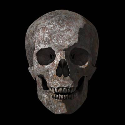 Human Head Digital Art - Rusty Old Skull by Vitaliy Gladkiy