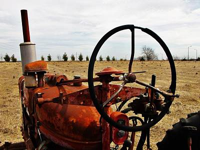 Photograph - Rusty Tractor Days by Rob Hallifax