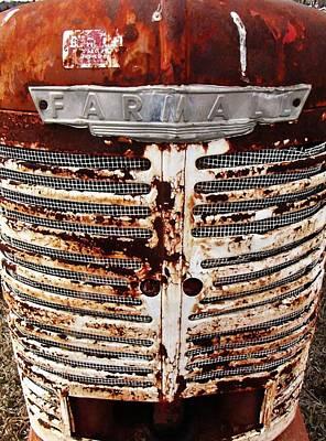 Photograph - Rusty Tractor Farmall by Rob Hallifax