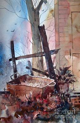 Rusty Tub Print by Micheal Jones