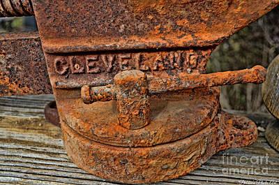 Rusty Vise 1 Print by Debbie Portwood