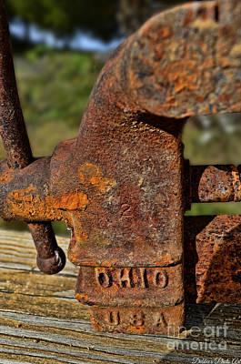 Rusty Vise V Print by Debbie Portwood