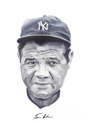Babe Ruth Painting - Ruth by Tamir Barkan