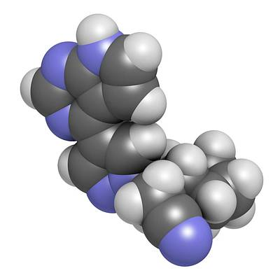 Ruxolitinib Myelofibrosis Cancer Drug Print by Molekuul