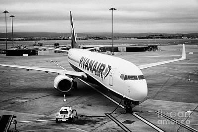 Passenger Plane Photograph - Ryanair Boeing 737 Ei-dlf Dublin Airport Terminal 1 Ireland by Joe Fox