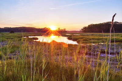 Rye Marsh Sunset Print by Eric Gendron
