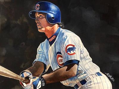Baseball Art Painting - Ryne Sandberg - Chicago Cubs by Michael  Pattison