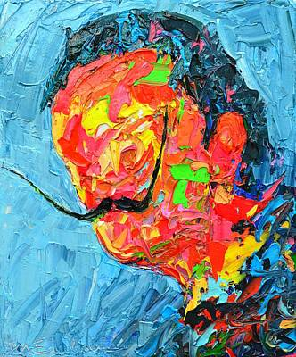 Iconic Painting - S D 2530 - Dali Abstract Expressionist Portrait  by Ana Maria Edulescu