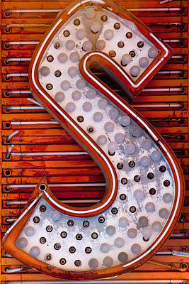 Message Art Photograph - S In Lights by Art Block Collections
