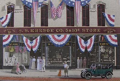 Baby Carriage Painting - S. S. Kresge Five And Ten Cent Store by C Robert Follett