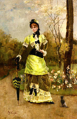 Sa Majeste La Parisienne Print by Alfred Stevens