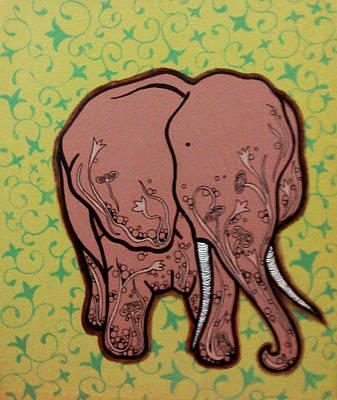 Elephant Mixed Media - Saathi II by Rinky Upadhyay