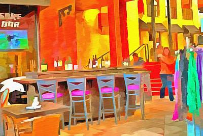 Asian Pop Culture Painting - Sab Cafe And Sake Bar  by L Wright