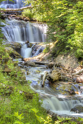 Sable Falls In Summer Print by Twenty Two North Photography
