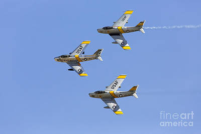 Planes Of Fame Photograph - Sabres Of The Horsemen by John Daly