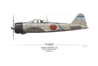 Wwii Painting - Saburo Sakai A6m Zero  by Craig Tinder