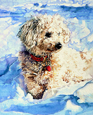 Dogs In Snow Painting - Sacha by Hanne Lore Koehler