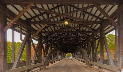 Saco River Bridge Print by Karen Stephenson