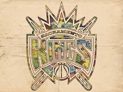 Basketball Painting - Sacramento Kings Poster Art by Florian Rodarte