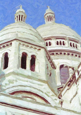 Sacre Coeur Digital Art - Sacre Coeur Detail by Liz Leyden